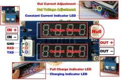 Модуль зарядки dc-dc с 2 LED-индикаторами, функции вольтметр/амперметр, функции светодиодного драйвера