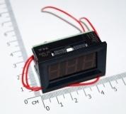 Электронный встраиваемый вольтметр 4.5В-30В (зеленый, 3 разряда) 0.56