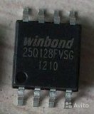W25Q128BVSIG  W25Q128 последовательная флэш-память емкостью 128 Мбит с интерфейсом SPI