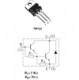 TIP122 транзистор биполярный составной TO-220, NPN, 100В, 5А, 65Вт, hFE: 1000
