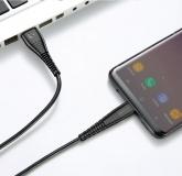 Кабель USB Type C - USB 1м, максимальный ток 2.4А, защите от изломов, Floveme