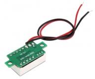 Бескорпусной электронный встраиваемый вольтметр 4,5В-30В (красный, 3 разряда) 0,36