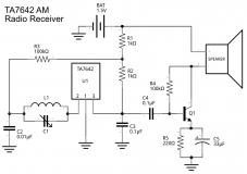 Микросхема приемника прямого усиления TA7642