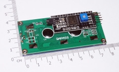 Arduino IIC / I2C 1602 LCD синий дисплей (5В)
