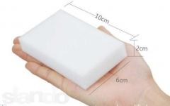 Меламиновая губка 100*60*20мм, белая, плотность 10 кг/м3