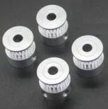 Шкив (ролик) 20-GT2-6 BF алюминиевый для GT2-ленты шириной 6мм, 20 зубьев, на вал 5мм