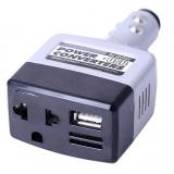 Автомобильный преобразователь DC-AC 12-24В - 220В 20Вт с USB выходом