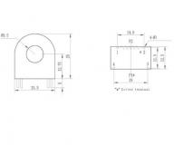 Трансформатор токовый 2000/1 DL-CT1005A 50A 10A / 5mA, 50А макс