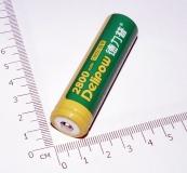 Аккумулятор Delipow-2800mAh 18650 3.7V 10.36Wh максимальный ток 5А, с защитой, реальная ёмкость