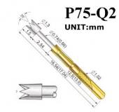Пружинный контакт-зонд P75-Q2, (16.54мм, диаметр 1.3мм, давление пружины 100г)