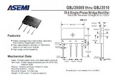 GBJ3510 диодный мост 1000В 35А