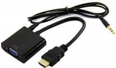 Конвертер сигнала HDMI в VGA, поддержка Full HD 1080P + audio стерео