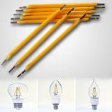 Светодиодная нить 32мм COB 1Вт 60-80В 13мА 140-200Lm 3000-3500K 360 градусов теплый белый свет