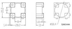 Держатель для аккумуляторов 18650 антивибрационный с пазами для взаимного соединения