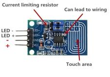 Емкостный сенсорный диммер постоянного напряжения для светодиодов, бесступенчатое регулирование затемнение, PWM модуль