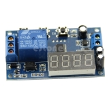 Таймер задержки включения или выключения с индикацией, 4 разряда, до 9999 минут, питание 12В, коммутация 250В 10A AC