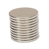 Неодимовый магнит (диск) NdFeB D15 x h1.5 мм N50