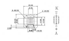 Светодиод УФ 385-390нм 10 Вт 45mil 900-1050мА 9-11В