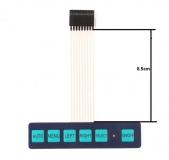1 * 6 матрица,  модуль клавиатуры, мембранный переключатель/клавиатура, панель управления(auto,menu,left,right,select,on/off)