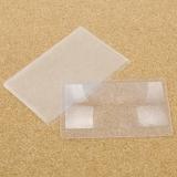 Увеличительное стекло - линза Френеля, размер визитки 85*55*0.4мм (прозрачный пластик), увеличение 3.5х
