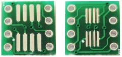 Переходник / адаптер для микросхем (SO8, SOP8, MSOP8, SOIC8 или TSSOP8 в dip8) двухсторонняя