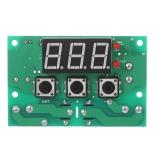 Цифровой безкорпусной 12В регулятор температуры с климат контролем, с термопарой, -50 ~ +110°C, 12В, ток управления 10A, красный дисплей, W1501-12V