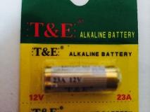 Батарейка T&E 23A Alkaline battery 12В 55 мАч