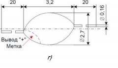 КД103А, диффузионный кремниевый диод, 50В, 0.1А (kd30)