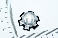 Линза 60° на светодиоды 1W 3W , акриловая, светопропускаемость 93%
