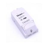 Дистанционное управление нагрузкой до 10А, измерение температуры, влажность, Wi-Fi  реле, одноканальное Sonoff TH10 для управления любым электроприбором, розеткой или выключателем со смартфона через Интернет. (Android, IOS)
