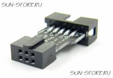 Переходник ISP10 в ISP6 для программатора AVR USBASP