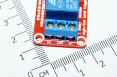 Модуль реле 1-канальный для Arduino с оптронной изоляцией, 5 вольт (hight and low level trigger, реле SONGLE/аналог.)
