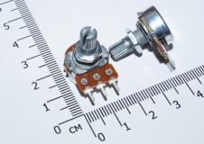 Переменный резистор 100КОм (потенциометр, короткая ручка 15 мм, диаметр 6мм)