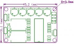 Компактный готовый моно усилитель на TDA8932 35Вт, усилитель D-класса