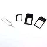 Комплект Nano SIM + Micro SIM адаптеров + шпилька для извлечения SIM в Iphone 7, 6, 6S, 5, 5S, 5C, 4, 4S, и т.д. 4 предмета