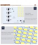 Светодиодная сборка 50W белый теплый цвет (2500-3200K, 4600 lm, 220-240В AC)