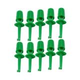 Зажим пружинный (зеленый)