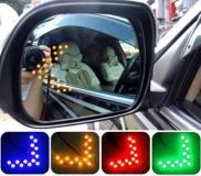 Автомобильный индикатор (дублер) для сигнала поворота, желто-оранжевый, 14 SMD 1210, 55*40мм