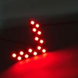 Автомобильный индикатор (дублер) для сигнала поворота, красный, 14 SMD 1210, 55*40мм