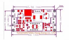DC-DC регулируемый преобразователь с вольтметром на LM2596S-ADJ , вход 4-35В, выход 1,3 - 34В, ток 2А
