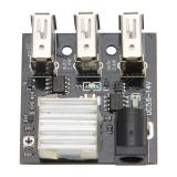 DC-DC фиксированный преобразователь, вход 5,6-14В, выход 5В, ток 0-8.0А, 3 USB порта