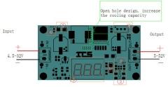 DC-DC регулируемый повышающий преобразователь с индикатором выходного и входного напряжения, XL6009 400KHz 4А, (вх.напряж.4.5В-32В; вых.напряж.5В-40В)