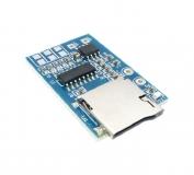 Мини аудио модуль (MP3-плеер) на GPD2856C, TF-карта, усилитель  2-3Вт