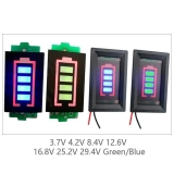 Индикатор емкости LiPo Li-ion аккумуляторов из 3 ячеек 3S 11.1В - 12.6В синий дисплей