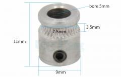 Шестерня 9 * 5 * 11 мм для экструдера MK7 MK8 для 3D принтера, нить 1.75 мм / 3.0 мм
