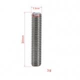Насадка на экструдер из нержавеющей стали с тефлоновой трубкой внутри для 3D-принтера, 1,75 мм внутренний диаметр, М6*30мм