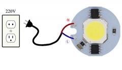 Сверхяркий светодиод 12W белый цвет (5000-5700K, 1000 lm, 220-240В AC) 30*30*2мм