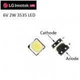 Светодиод SMD LG innotek 3535 LED LATWT391RZLZK ультра яркий белый цвет 2Вт  6В - 6.8В 250-500мА