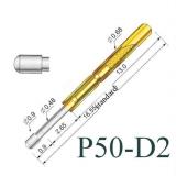 Пружинный контакт-зонд P50-D2, (16.55мм, диаметр 0.9мм, давление пружины 75г)