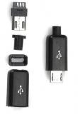 Разъем micro-USB на кабель (папа, сборный, 4 эл-та)
